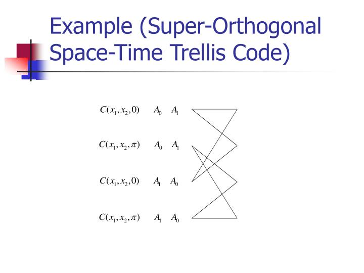 Example (Super-Orthogonal Space-Time Trellis Code)