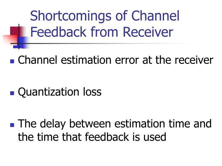 Shortcomings of Channel Feedback from Receiver