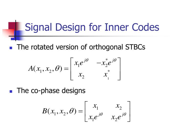 Signal Design for Inner Codes