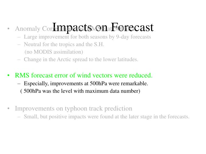 Impacts on Forecast