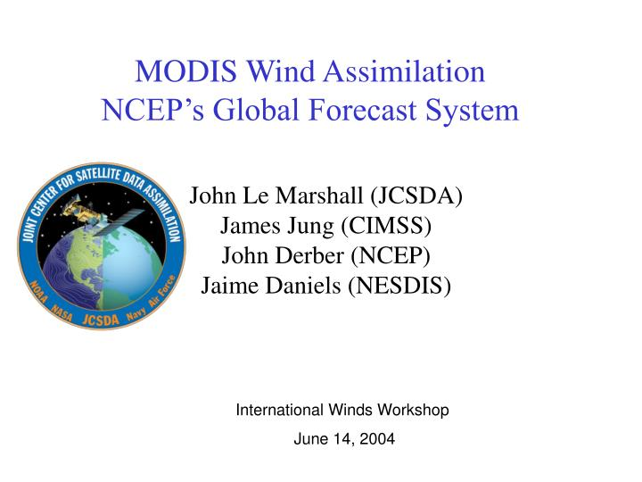 MODIS Wind Assimilation