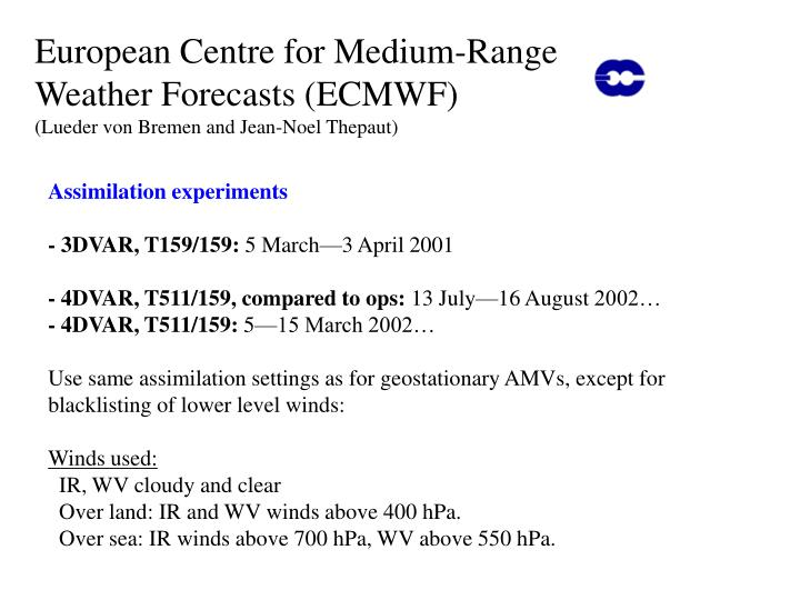 European Centre for Medium-Range