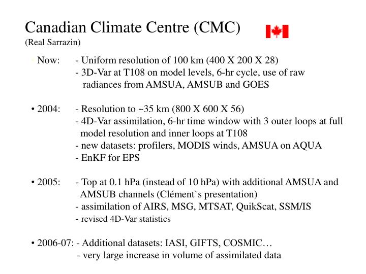 Canadian Climate Centre (CMC)