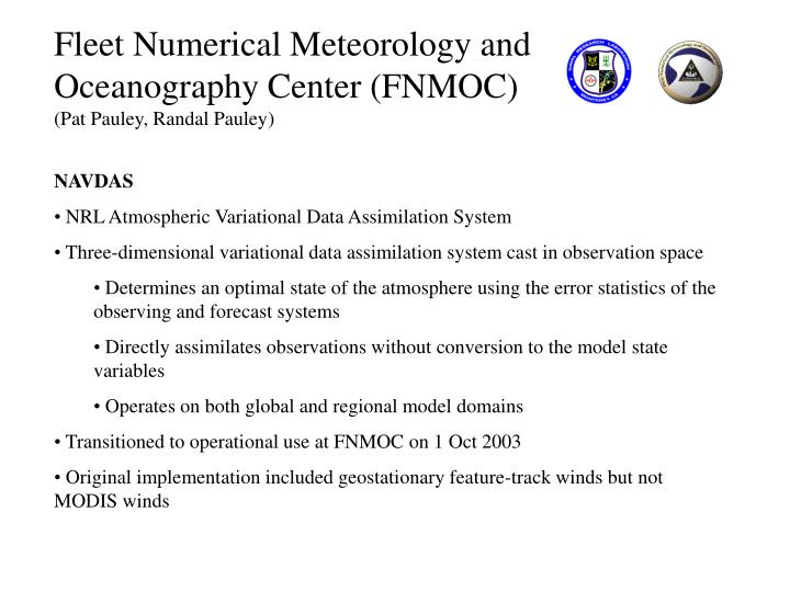 Fleet Numerical Meteorology and Oceanography Center (FNMOC)