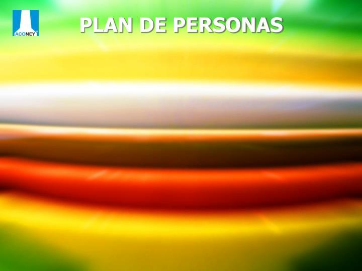 PLAN DE PERSONAS