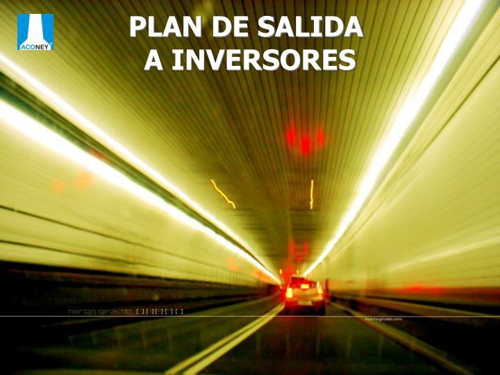 PLAN DE SALIDA
