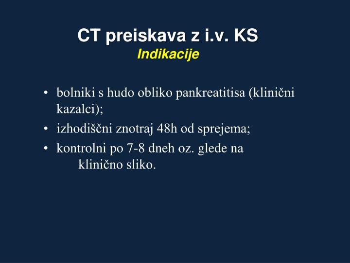 CT preiskava z i.v. KS
