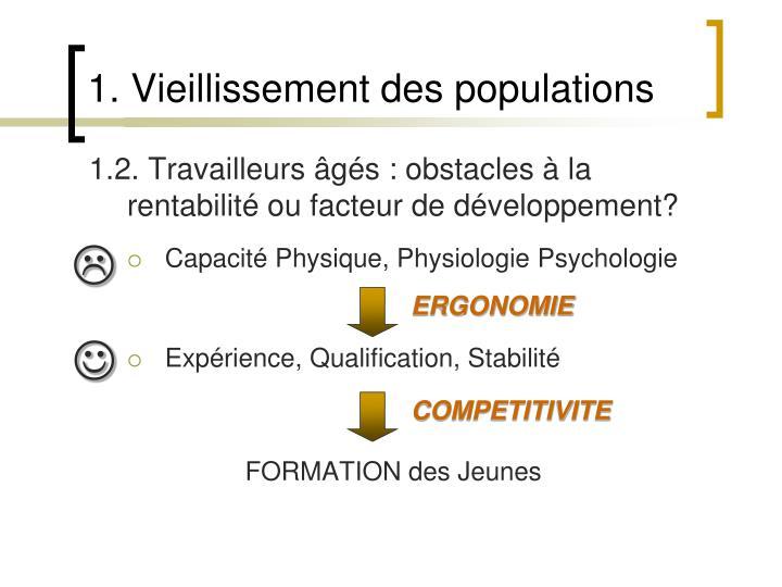 1.2. Travailleurs âgés : obstacles à la rentabilité ou facteur de développement?