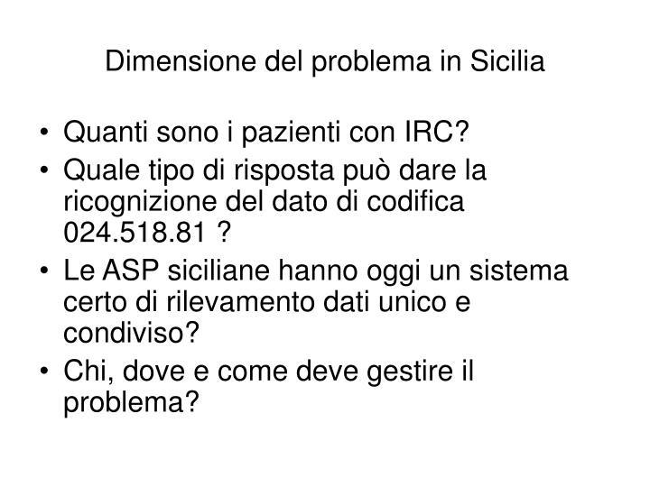 Dimensione del problema in Sicilia