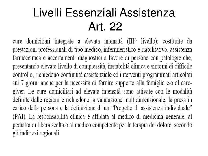 Livelli Essenziali Assistenza