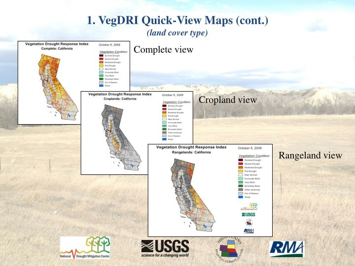 1. VegDRI Quick-View Maps (cont.)