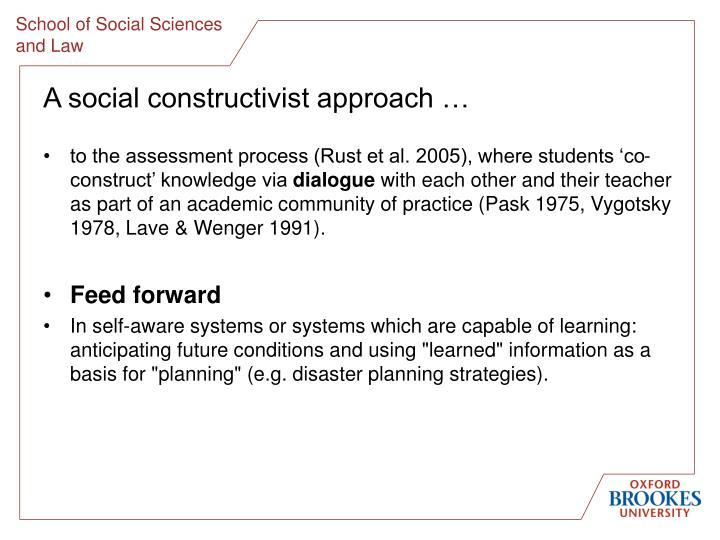 A social constructivist approach …