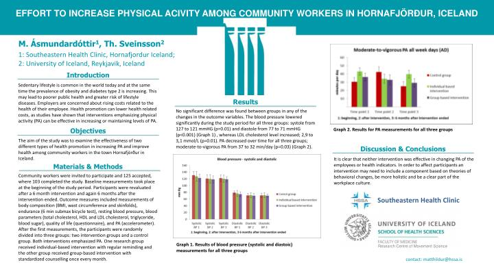 EFFORT TO INCREASE PHYSICAL ACIVITY AMONG COMMUNITY WORKERS IN HORNAFJÖRÐUR, ICELAND