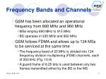frequency bands and channels
