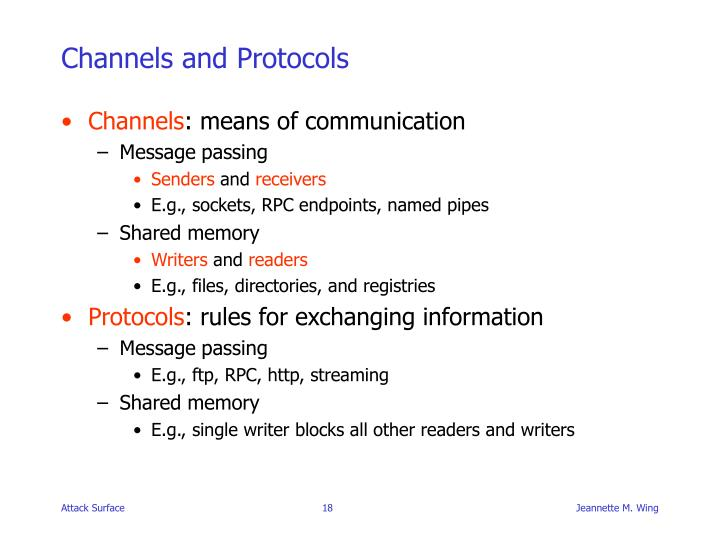 Channels and Protocols