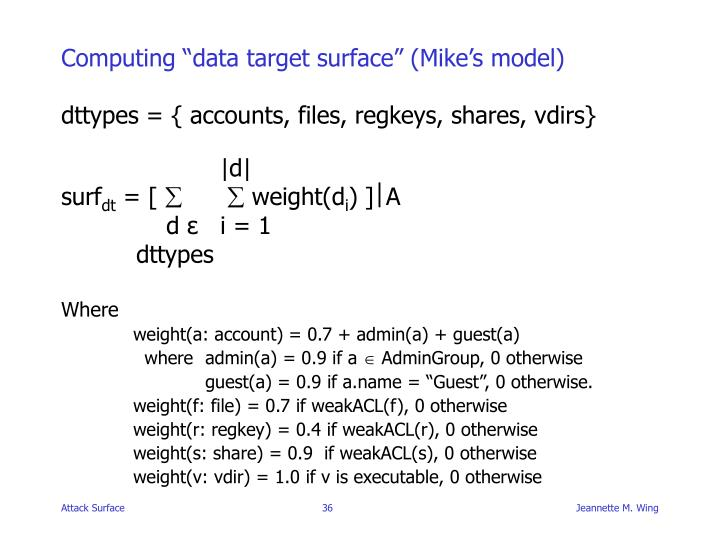 "Computing ""data target surface"" (Mike's model)"