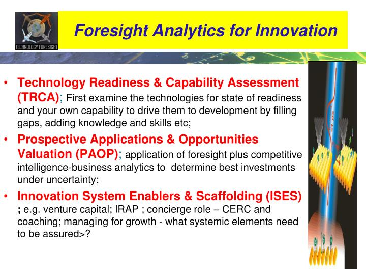 Foresight Analytics for Innovation