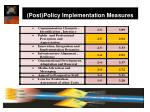 post policy implementation measures