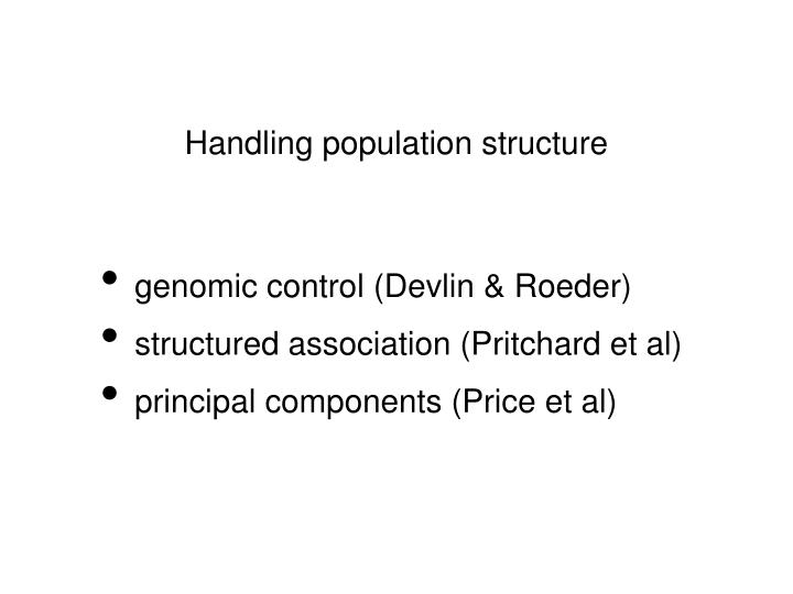 Handling population structure