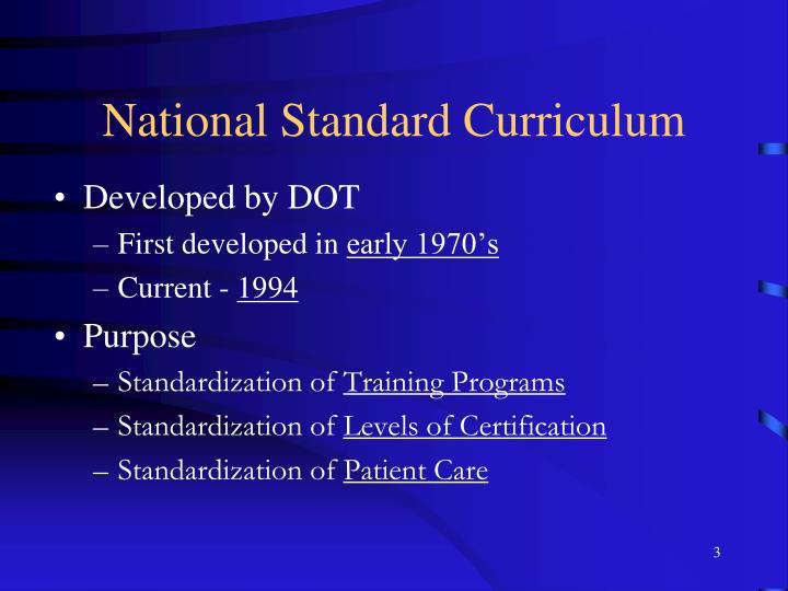 National Standard Curriculum