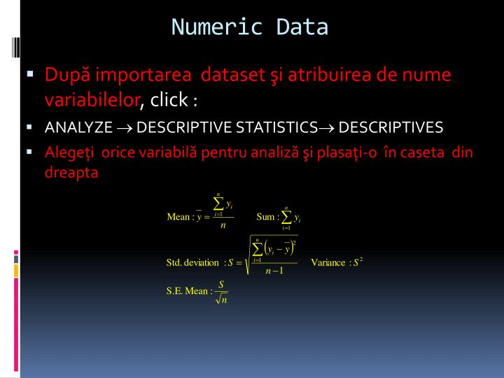 Numeric Data