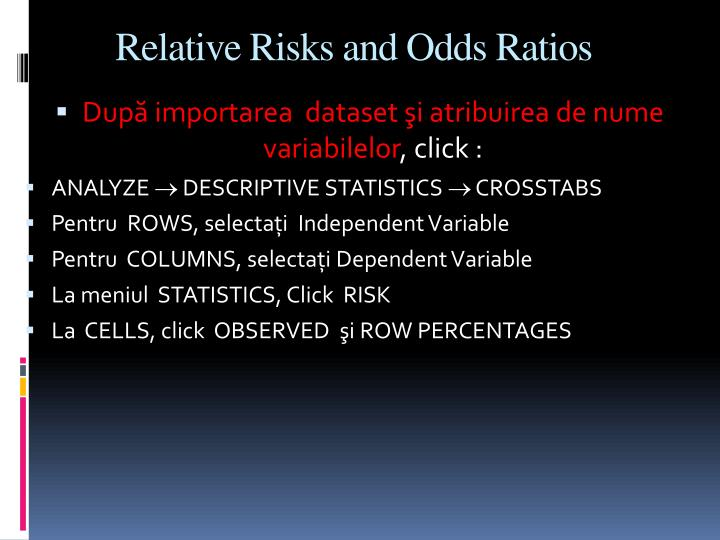 Relative Risks and Odds Ratios