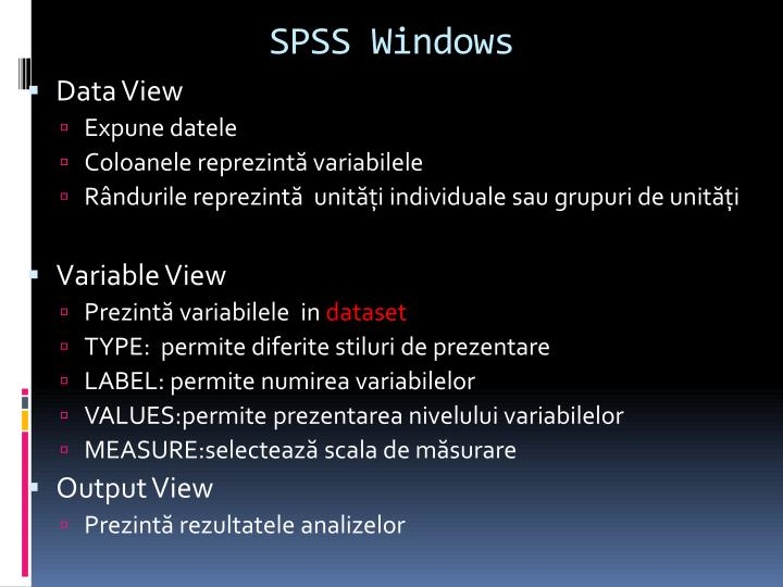 SPSS Windows
