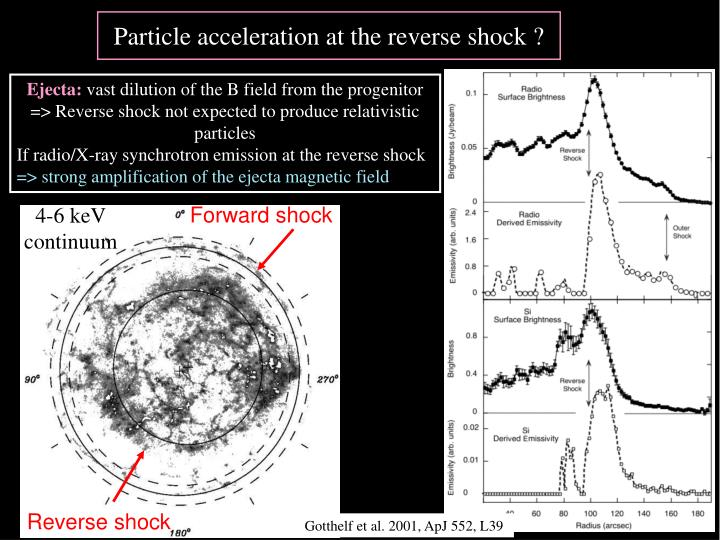 Particle acceleration at the reverse shock ?