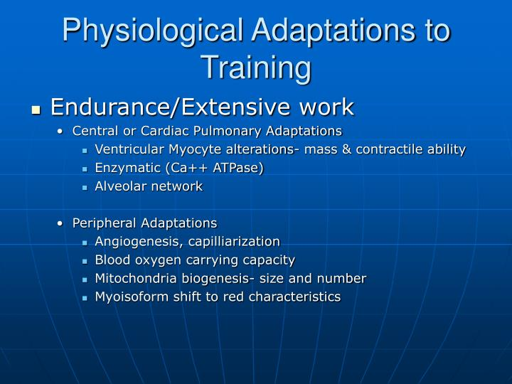Physiological Adaptations to Training