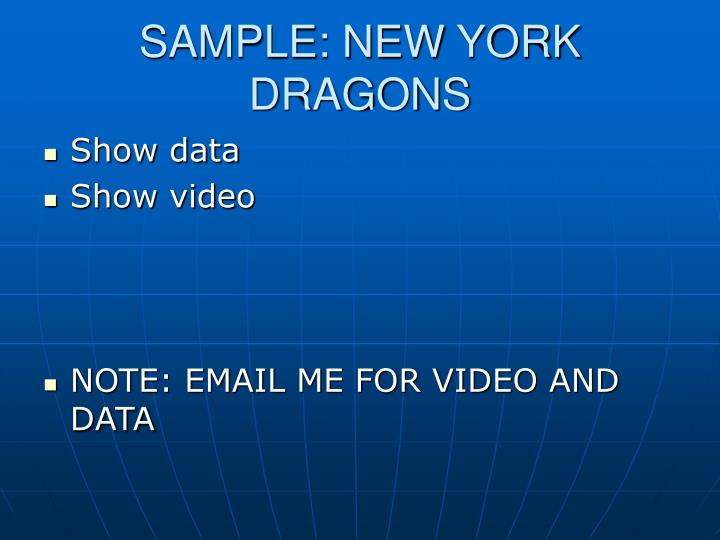 SAMPLE: NEW YORK DRAGONS