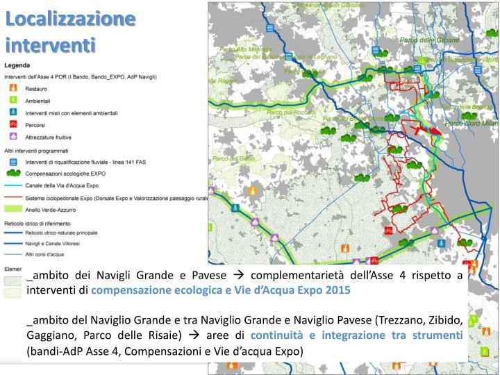 Localizzazione interventi