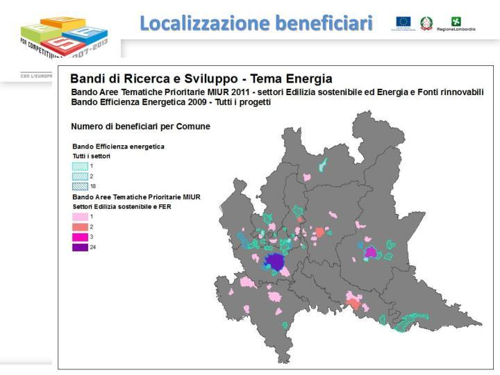 Localizzazione beneficiari