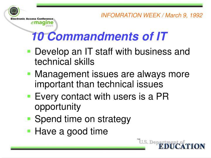 10 Commandments of IT