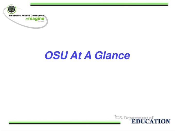 OSU At A Glance