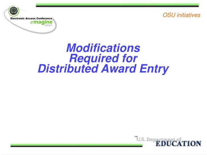 OSU initiatives