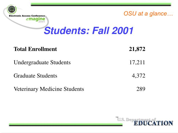 Students: Fall 2001