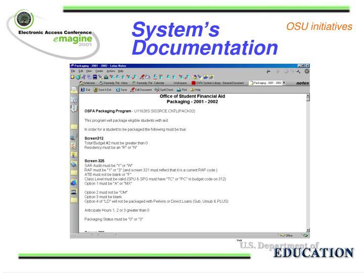 System's Documentation