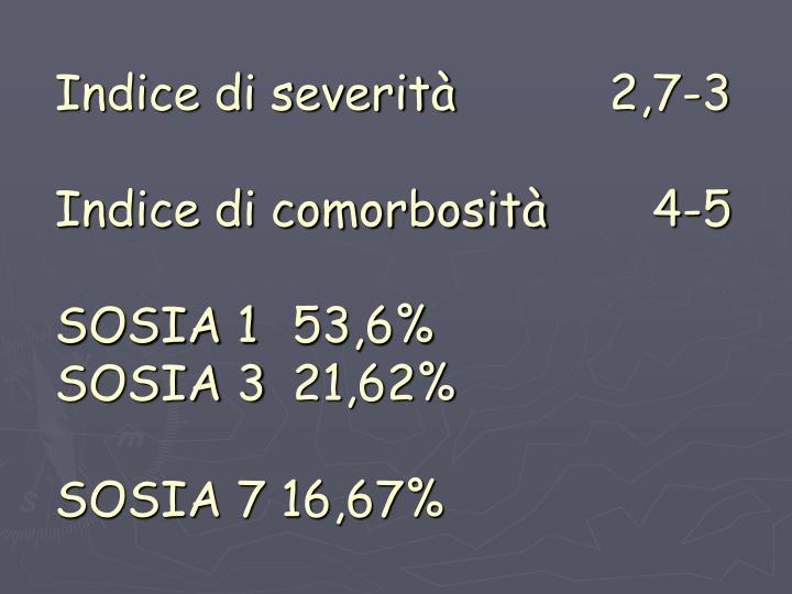 Indice di severità 2,7-3