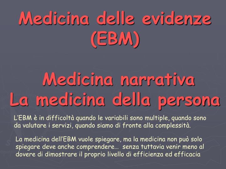 Medicina delle evidenze (EBM)