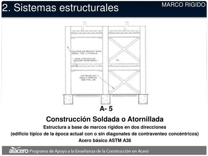 2. Sistemas estructurales