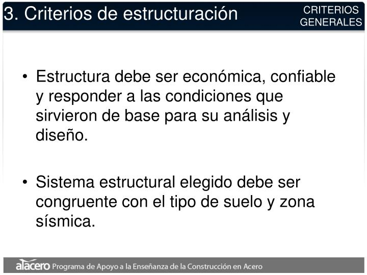 3. Criterios de estructuración