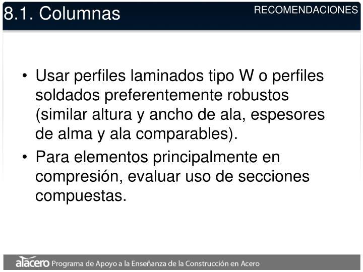 8.1. Columnas