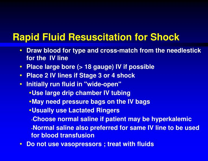 Rapid Fluid Resuscitation for Shock