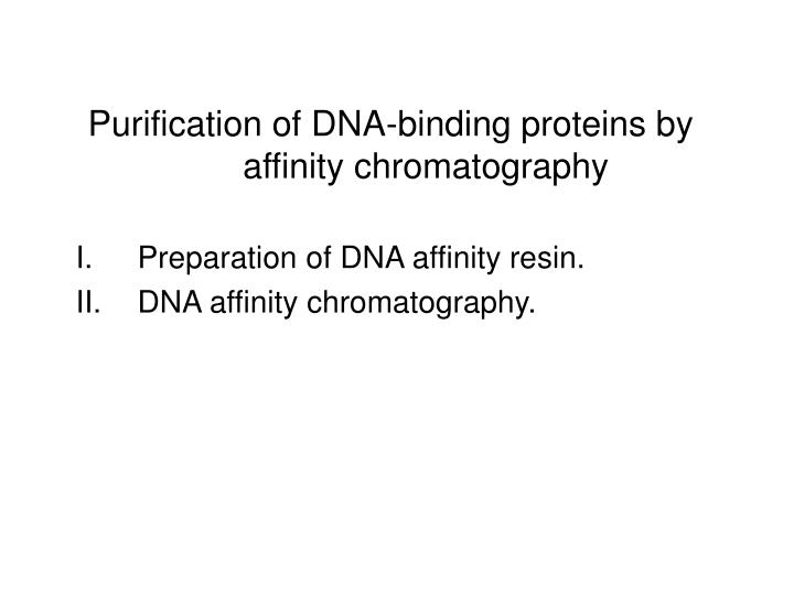 Purification of DNA-binding proteins by affinity chromatography