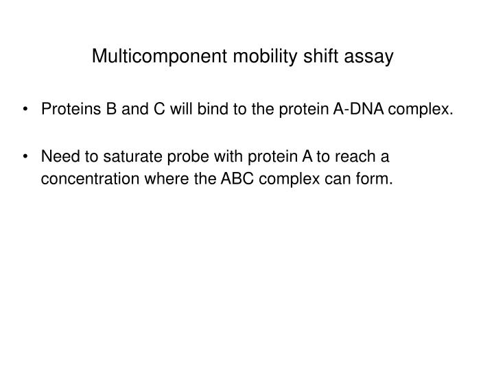 Multicomponent mobility shift assay