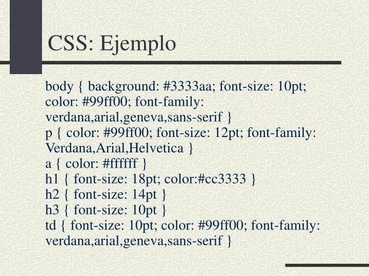 CSS: Ejemplo