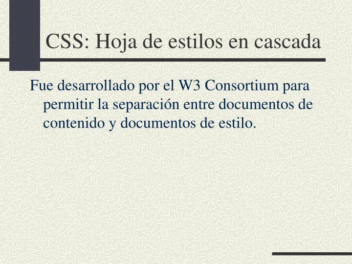 CSS: Hoja de estilos en cascada