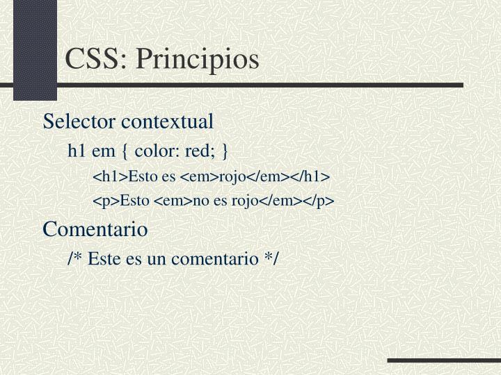 CSS: Principios