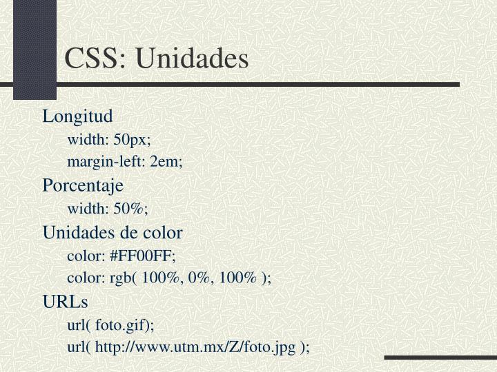 CSS: Unidades