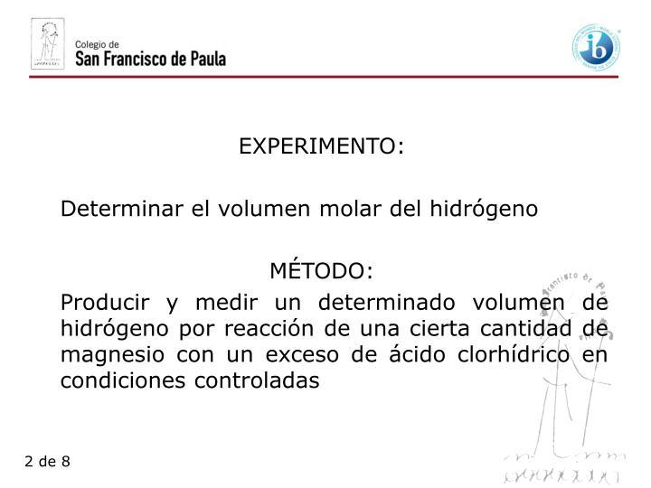 EXPERIMENTO: